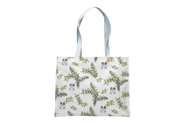 Ecology May Gibbs Wattle Tote Bag 37 X 30 X 11Cm 100% Cotton Outer. Pvc Coated In Yellow