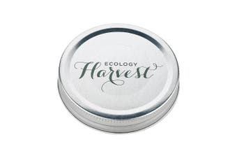 Ecology Harvest Medium Replacement Screw Lid - Set Of 6 Metal In Silver
