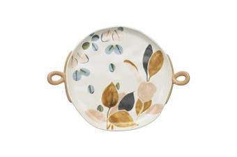 Ecology Twiggy Bow Platter 30Cm Stoneware In Multi