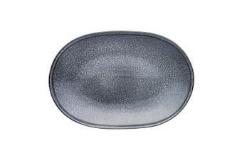 Ecology Arid Oval Serving Platter 40Cm Quality Stoneware In Grey