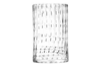 Lsa Twill Vase/Lantern 25Cm Glass In Clear