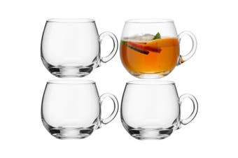Lsa Serve Punch Cups Set Of 4 Glass In Clear