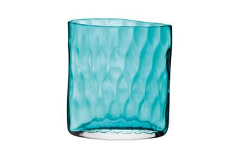 Lsa Tulle Vase H21cm Pale Peacock Glass In Blue