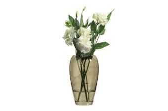 Rona Jewel Jasper Barrel Vase 23Cm Glass In Brown