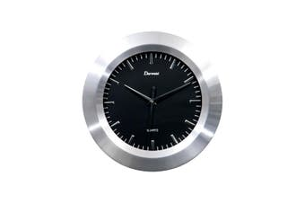 Derwent Alum Black Clock 30Cm Metal In Black