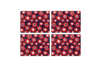 Symphony Carnaby Duo Floral Placemat Set Of 4 Paper/Cork In Multicolour