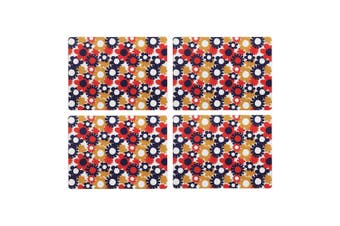 Symphony Carnaby Floral Fields Placemat Set Of 4 Paper/Cork In Multicolour