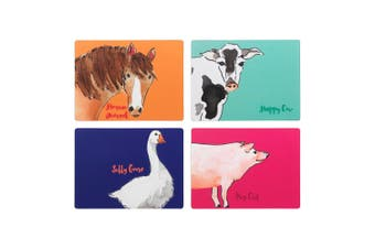 Symphony Funny Farm Placemats Set Of 4 Paper/Cork In Assorted
