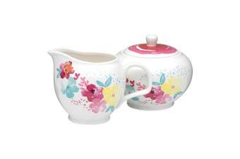 Symphony Summer Bloom Sugar & Creamer Porcelain In Multicolour