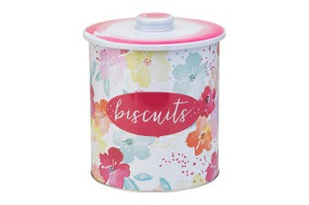 Symphony Summer Bloom Biscuit Tin Tin In Multicolour