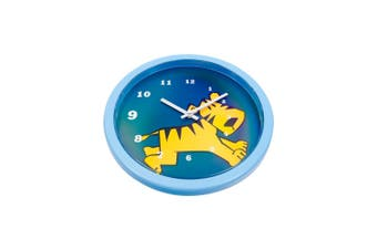 Tik Tok Tiger Clock 25Cm Plastic In Blue