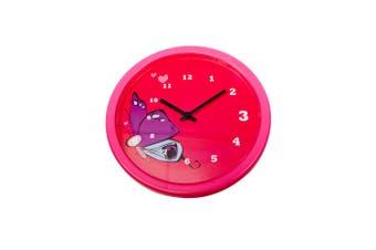Tik Tok Butterfly Clock 25Cm Plastic In Pink