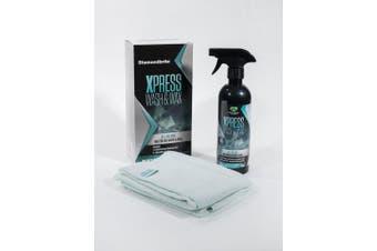 Waterless Xpress Wash & Wax Car Bike SUV Pack - 500ml + 2X Microfibre cloths - Made in UK