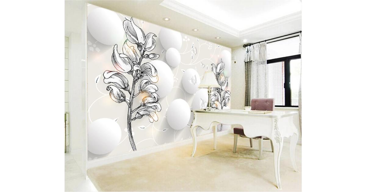 3d Home Wallpaper Sketch Flower Wc360 Bchw Wall Murals Wallpaper Murals Self Adhesive Vinyl Xxxxl 520cm X 290cm Wxh 205 X114 Kogan Com