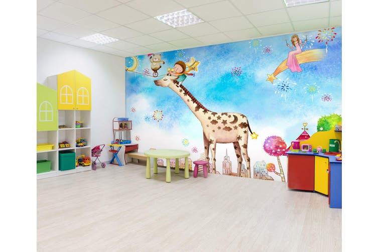 3D Home Wallpaper Giraffe Paradise 020 BCHW Wall Murals Woven paper (need glue), XXXXL 520cm x 290cm (WxH)(205''x114'')