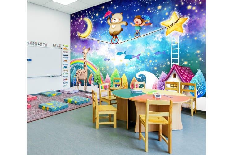 3D Home Wallpaper Naughty Moonlit Night 017 BCHW Wall Murals Woven paper (need glue), XL 208cm x 146cm (WxH)(82''x58'')