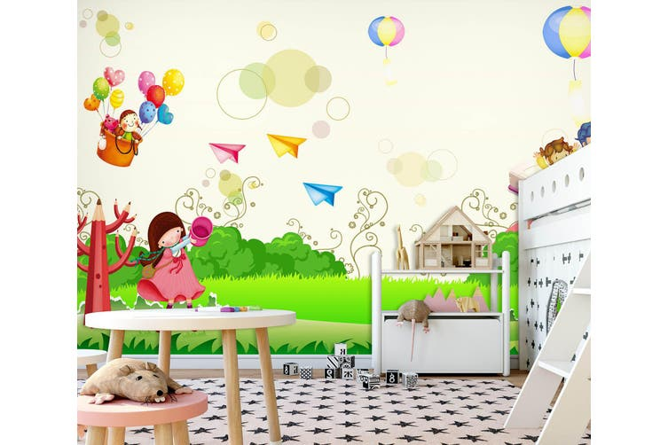 3D Home Wallpaper Color Town 016 BCHW Wall Murals Woven paper (need glue), XL 208cm x 146cm (WxH)(82''x58'')