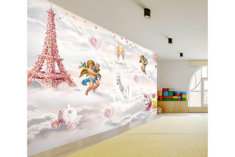 3D Home Wallpaper Tower Angel 013 BCHW Wall Murals Self-adhesive Vinyl, XXL 312cm x 219cm (WxH)(123''x87'')