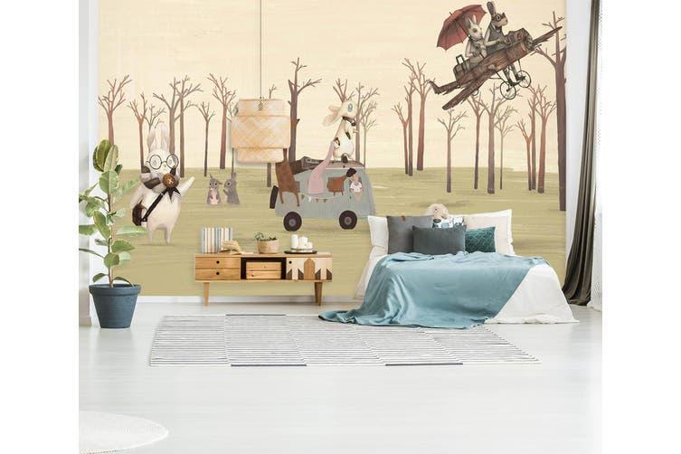 3D Home Wallpaper Forest Picnic 012 BCHW Wall Murals Woven paper (need glue), XXL 312cm x 219cm (WxH)(123''x87'')