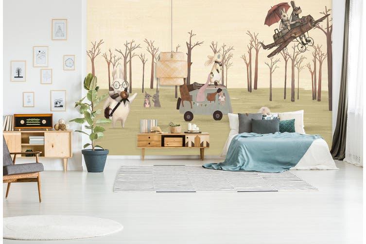 3D Home Wallpaper Forest Picnic 012 BCHW Wall Murals Self-adhesive Vinyl, XXL 312cm x 219cm (WxH)(123''x87'')
