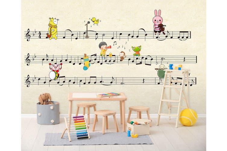3D Home Wallpaper Piano Sheet Music 011 BCHW Wall Murals Woven paper (need glue), XXL 312cm x 219cm (WxH)(123''x87'')