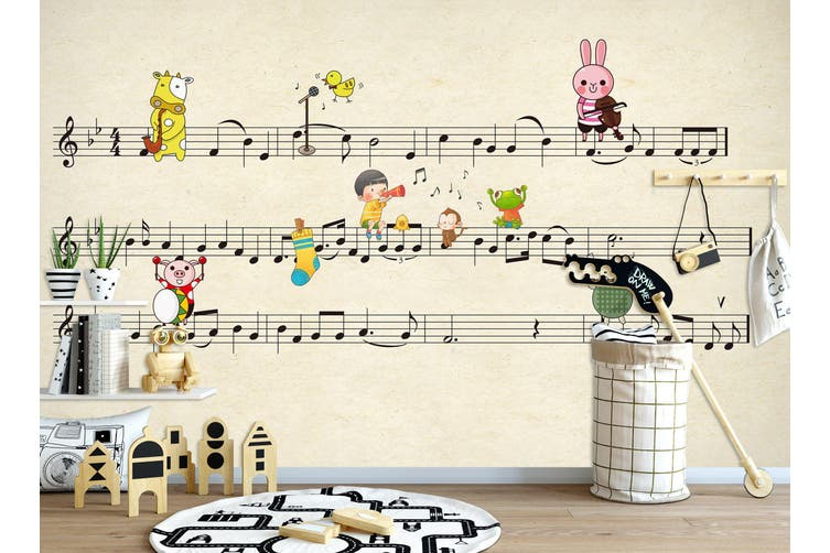 3D Home Wallpaper Piano Sheet Music 011 BCHW Wall Murals Self-adhesive Vinyl, XL 208cm x 146cm (WxH)(82''x58'')