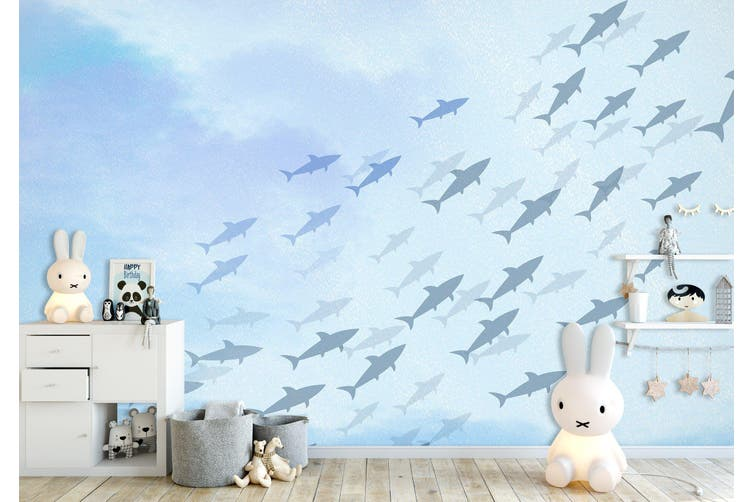 3D Home Wallpaper Sea Fish 009 BCHW Wall Murals Woven paper (need glue), XXL 312cm x 219cm (WxH)(123''x87'')