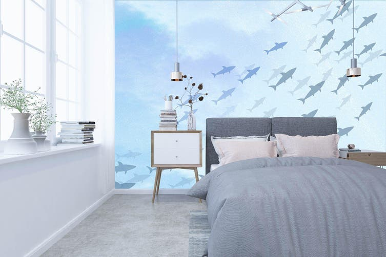 3D Home Wallpaper Sea Fish 009 BCHW Wall Murals Woven paper (need glue), XXXXL 520cm x 290cm (WxH)(205''x114'')