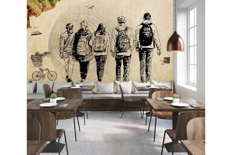 3D Home Wallpaper Go Travel 004 BCHW Wall Murals Woven paper (need glue), XXXL 416cm x 254cm (WxH)(164''x100'')