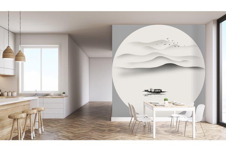 3D Home Wallpaper Landscape Boat 002 BCHW Wall Murals Self-adhesive Vinyl, XXXXL 520cm x 290cm (WxH)(205''x114'')
