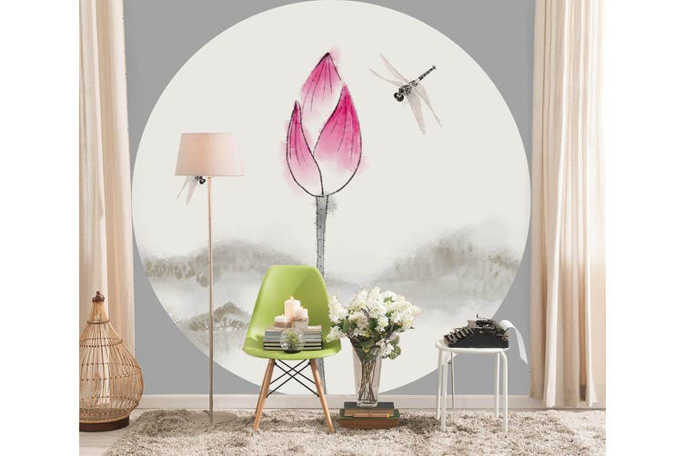 3D Home Wallpaper Moon Night Lotus 001 BCHW Wall Murals Woven paper (need glue), XL 208cm x 146cm (WxH)(82''x58'')