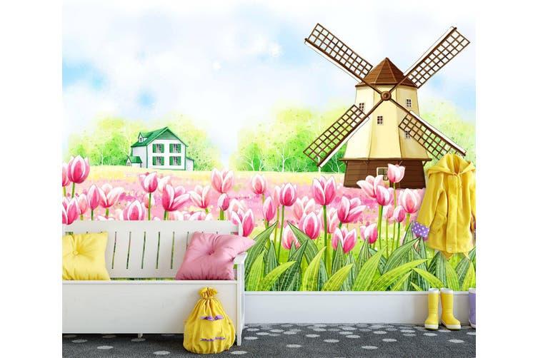 3D Home Wallpaper Pink Lily 1731 BCHW Wall Murals Self-adhesive Vinyl, XXL 312cm x 219cm (WxH)(123''x87'')