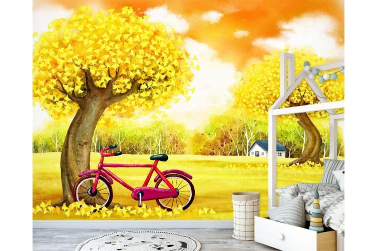 3D Home Wallpaper Forest Bike 1730 BCHW Wall Murals Self-adhesive Vinyl, XXXL 416cm x 254cm (WxH)(164''x100'')
