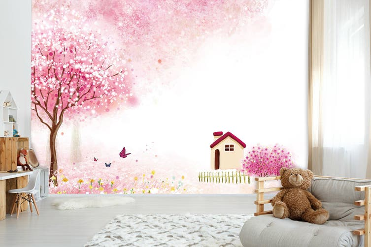 3D Home Wallpaper Peach Blossom World 1727 BCHW Wall Murals Self-adhesive Vinyl, XXXL 416cm x 254cm (WxH)(164''x100'')