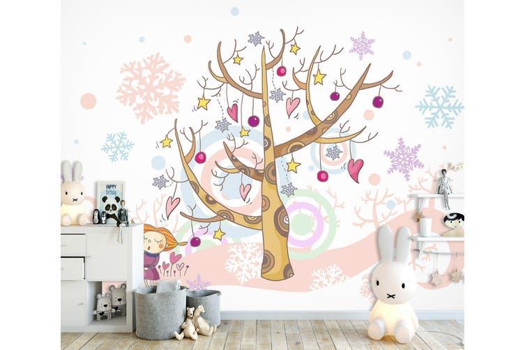 3D Home Wallpaper Christmas Tree 1724 BCHW Wall Murals Self-adhesive Vinyl, XXL 312cm x 219cm (WxH)(123''x87'')