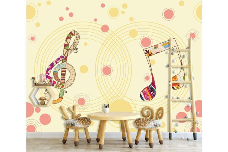 3D Home Wallpaper Musical Note 17X BCHW Wall Murals Self-adhesive Vinyl, XXXXL 520cm x 290cm (WxH)(205''x114'')