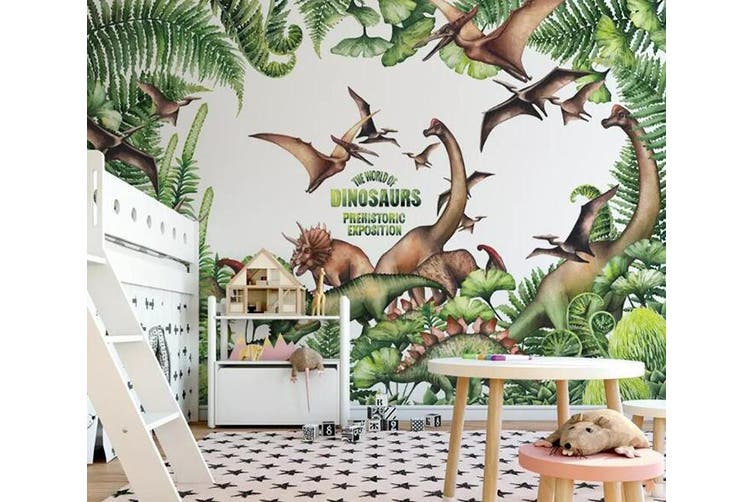 3D Home Wallpaper Dinosaur Park 1300 BCHW Wall Murals Self-adhesive Vinyl, XXXXL 520cm x 290cm (WxH)(205''x114'')