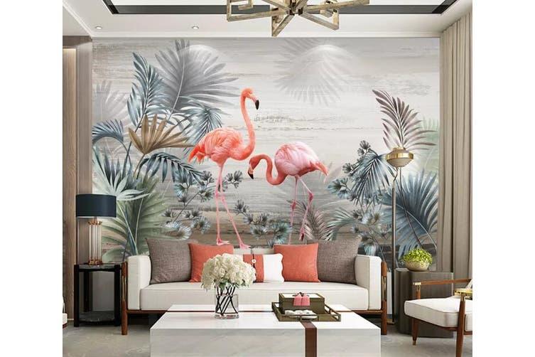 3D Home Wallpaper Pink Flamingo 1298 BCHW Wall Murals Self-adhesive Vinyl, XL 208cm x 146cm (WxH)(82''x58'')