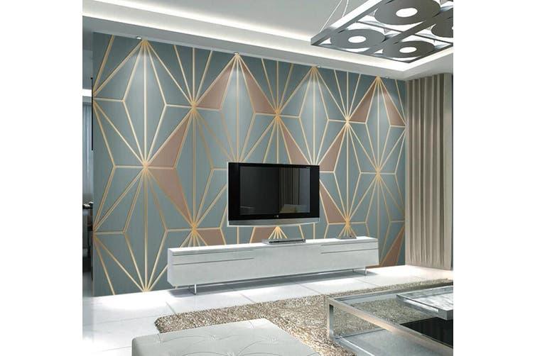 3D Home Wallpaper Golden Lines 1293 BCHW Wall Murals Self-adhesive Vinyl, XL 208cm x 146cm (WxH)(82''x58'')