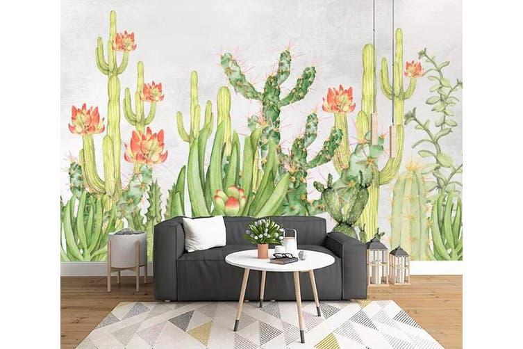 3D Home Wallpaper Cactus Flower 1288 BCHW Wall Murals Self-adhesive Vinyl, XXXL 416cm x 254cm (WxH)(164''x100'')