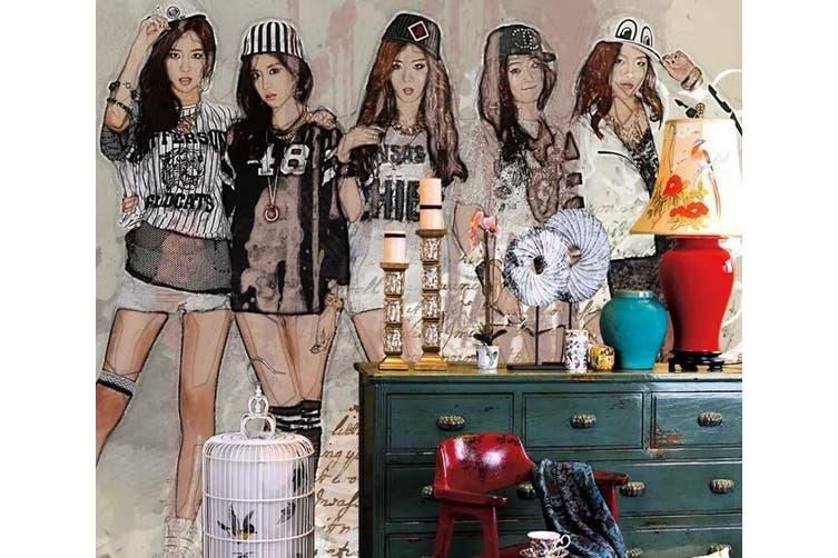 3D Home Wallpaper Sports Girl 1284 BCHW Wall Murals Woven paper (need glue), XXXL 416cm x 254cm (WxH)(164''x100'')