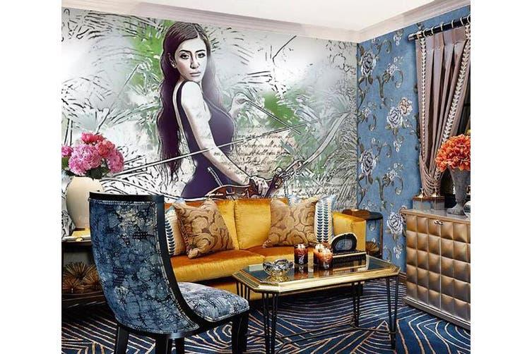 3D Home Wallpaper Pretty Lady 1283 BCHW Wall Murals Woven paper (need glue), XXXL 416cm x 254cm (WxH)(164''x100'')