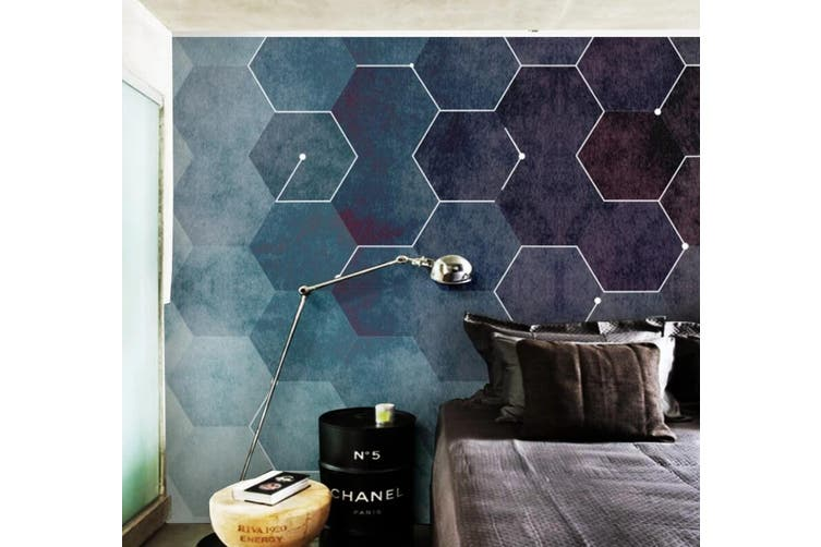 3D Home Wallpaper Black Diamond 1281 BCHW Wall Murals Woven paper (need glue), XL 208cm x 146cm (WxH)(82''x58'')
