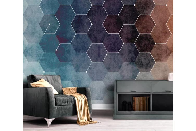 3D Home Wallpaper Black Diamond 1281 BCHW Wall Murals Self-adhesive Vinyl, XXXXL 520cm x 290cm (WxH)(205''x114'')