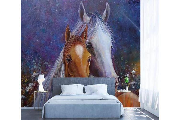 3D Home Wallpaper Horse 1280 BCHW Wall Murals Woven paper (need glue), XXL 312cm x 219cm (WxH)(123''x87'')