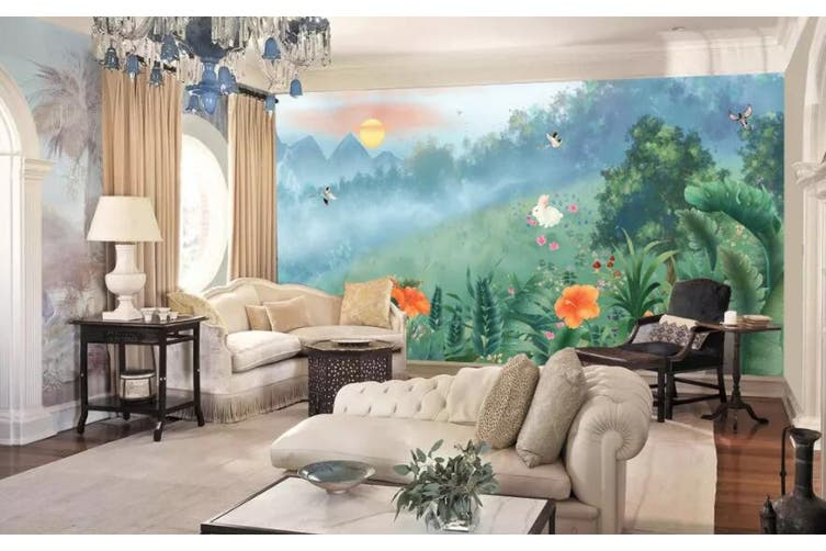 3D Home Wallpaper Flower Butterfly 1277 BCHW Wall Murals Woven paper (need glue), XXXL 416cm x 254cm (WxH)(164''x100'')