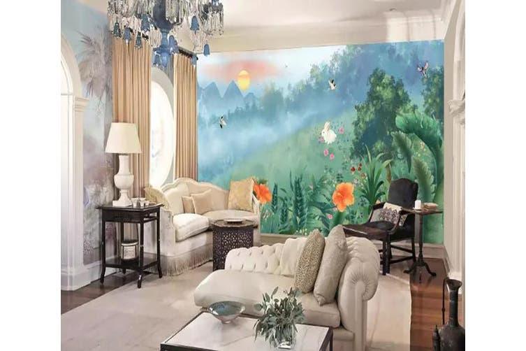 3D Home Wallpaper Flower Butterfly 1277 BCHW Wall Murals Woven paper (need glue), XXXXL 520cm x 290cm (WxH)(205''x114'')
