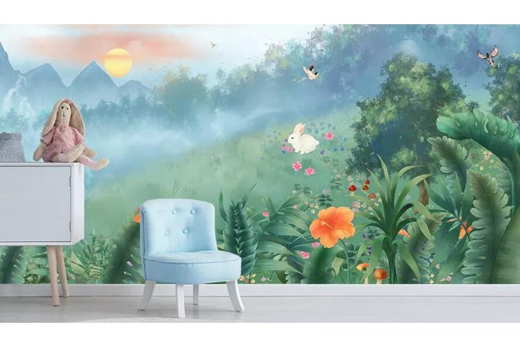 3D Home Wallpaper Flower Butterfly 1277 BCHW Wall Murals Self-adhesive Vinyl, XXXXL 520cm x 290cm (WxH)(205''x114'')