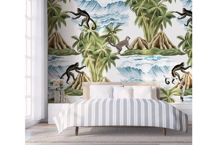 3D Home Wallpaper Monkey Climbing Tree 1275 BCHW Wall Murals Self-adhesive Vinyl, XL 208cm x 146cm (WxH)(82''x58'')