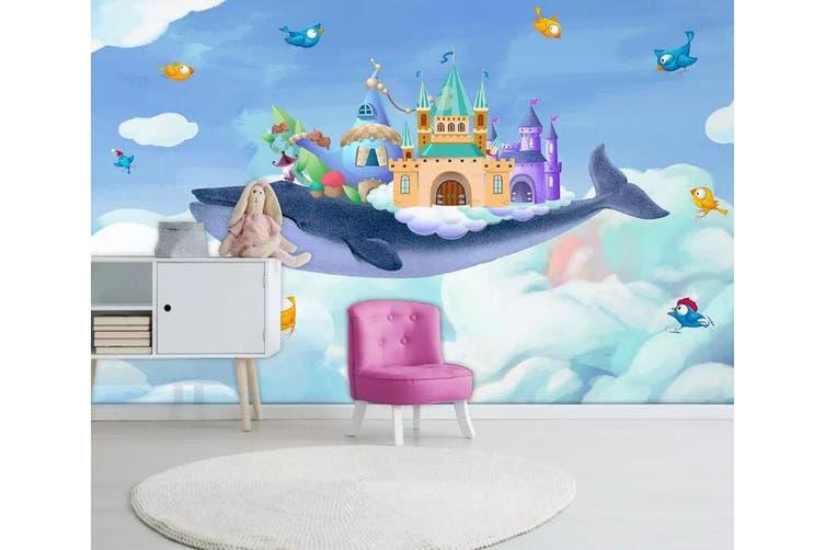 3D Home Wallpaper Whale Spaceship 1274 BCHW Wall Murals Woven paper (need glue), XL 208cm x 146cm (WxH)(82''x58'')